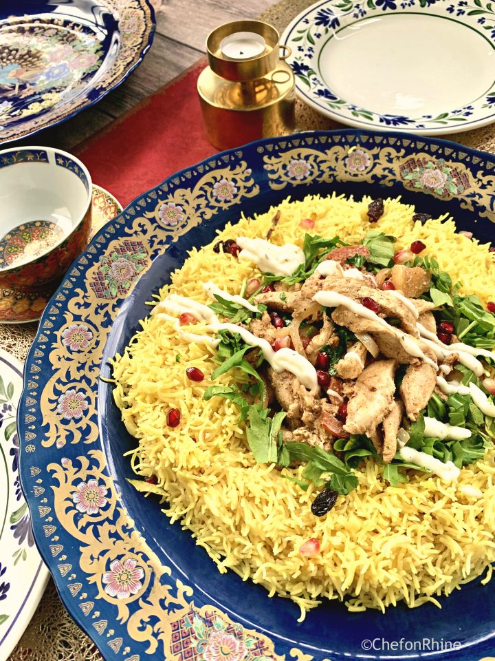 Quick Chicken Shawarma with Raisin Rice