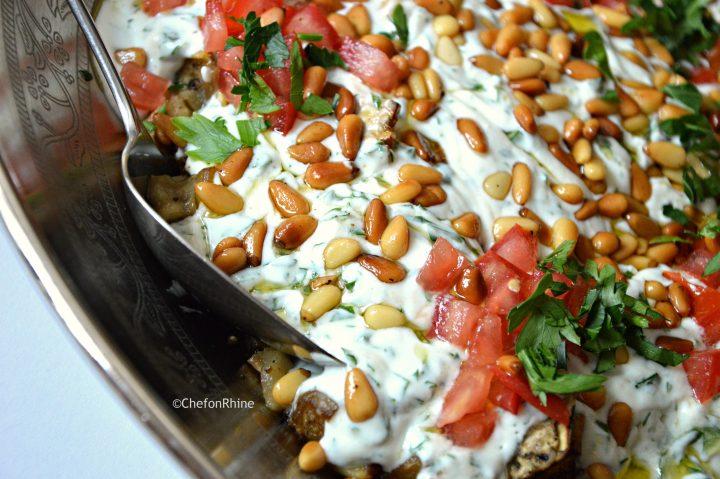 Bazinjan bil Laban – Aubergine with Yoghurt
