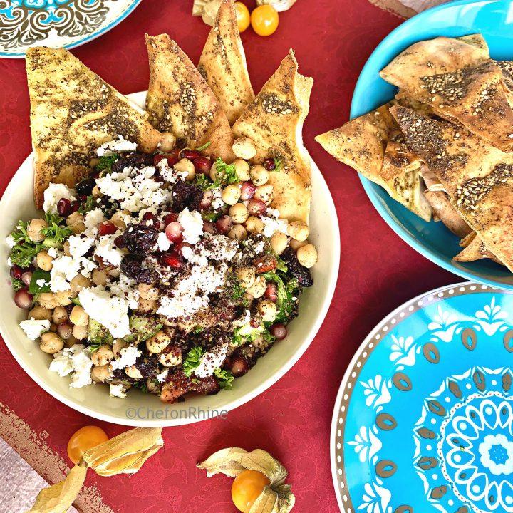 Mediterranean Chickpea Nachos Salad