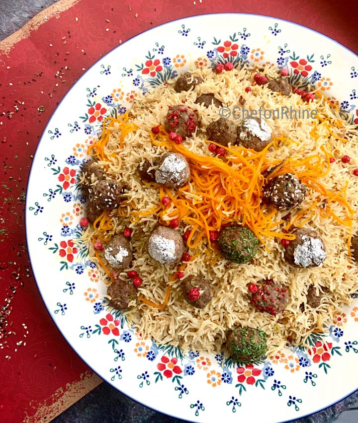 Moti Pilaf  – Basmati with edible Pearls