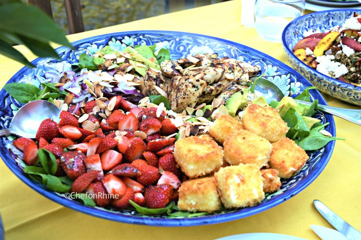 Rainbow Salad with Grilled Chicken & Fried Feta