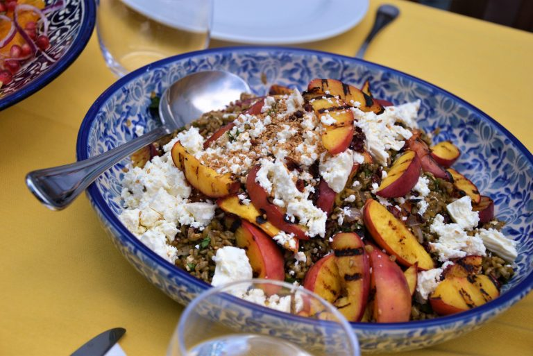 grain-peach-salad